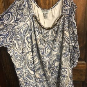 Catherine's Cold Shoulder Paisley Print 5X